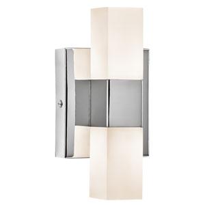 TVill Chrome Two-Light LED Wall Sconce