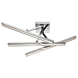 Rozi Chrome Three-Light LED Linear Ceiling Light