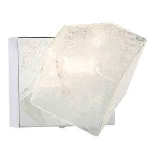 Icekubez Chrome One-Light Wall Sconce