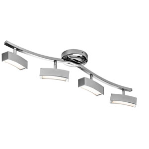 Landon Chrome Four-Light LED Linear Semi-Flush Mount