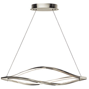 Meridian Brushed Nickel One-Light LED Linear Chandelier