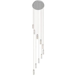 Neruda Chrome Ten-Light LED Multi Light Pendant