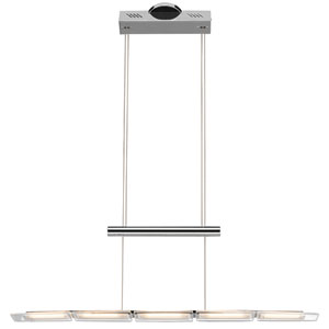 Kupa Chrome Five-Light LED Linear Pendant