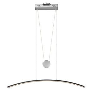 Sava Black with Chrome One-Light LED Linear Pendant