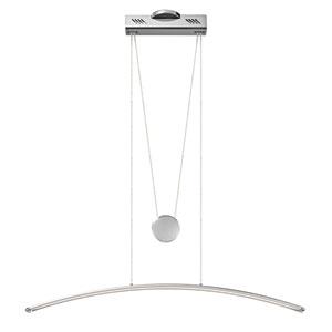 Sava Silver with Chrome One-Light LED Linear Pendant