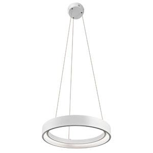 Fornello Sand Textured White One-Light LED Round Pendant