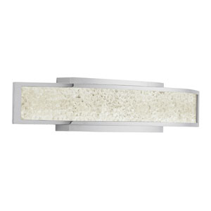 Crushed Ice Chrome One-Light LED Wall Sconce