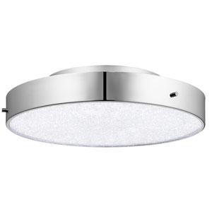 Crystal Moon Chrome One-Light LED Ceiling Mount