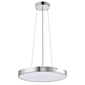 Crystal Moon Chrome One-Light LED Pendant
