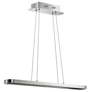 Quell Chrome 45.5-Inch One-Light LED Linear Pendant