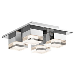 Gorva Chrome Four-Light LED Ceiling Mount