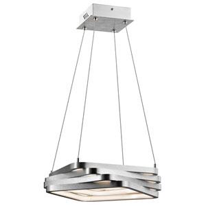 Kyrzo Satin Aluminum 16-Inch Four-Light LED Pendant