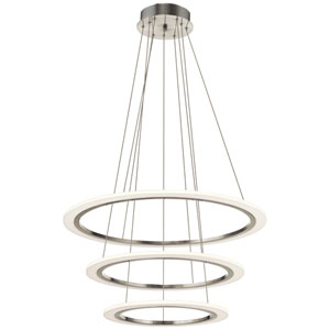 Hyvo Brushed Nickel LED 33-Inch Pendant