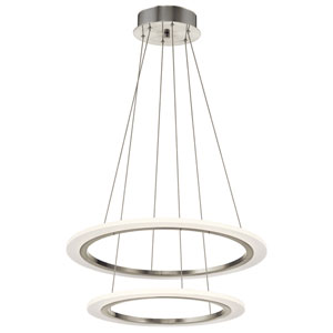 Hyvo Brushed Nickel LED 25-Inch Pendant