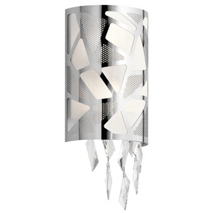 Angelique Chrome Two-Light Wall Sconce