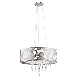 Angelique Chrome Three-Light Pendant