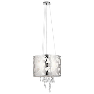 Angelique Chrome Four-Light Pendant