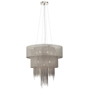 Elauna Brushed Nickel Ten-Light Chandelier