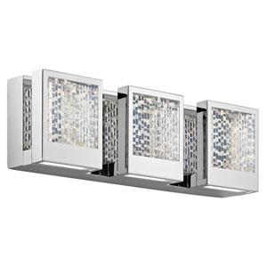 Pandora Chrome LED Three-Light Bath Sconce