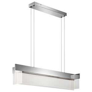 Geo Chrome LED Linear Pendant