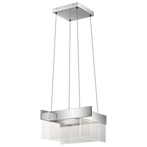 Geo Chrome 20-Inch LED Pendant