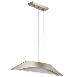 Pandim Brushed Nickel LED Pendant