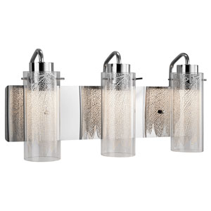 Krysalis  Chrome Three-Light LED Vanity
