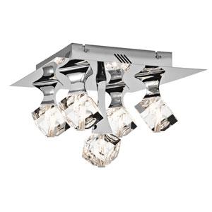 Rockne Chrome LED Flush Mount