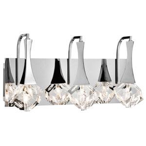 Rockne Chrome Three-Light LED Vanity