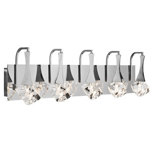 Rockne Chrome Six-Light LED Vanity
