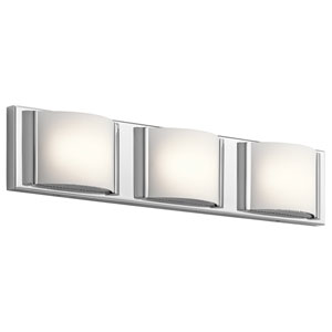 Bretto Chrome LED Three-Light Bath Sconce