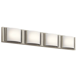 Bretto Brushed Nickel LED Four-Light Bath Sconce
