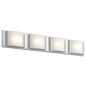 Bretto Chrome LED Four-Light Bath Sconce
