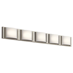 Bretto Brushed Nickel LED Five-Light Bath Sconce
