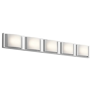 Bretto Chrome LED Five-Light Bath Sconce