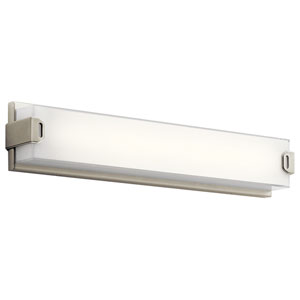 Xeo Brushed Nickel LED 24-Inch One-Light Bath Sconce