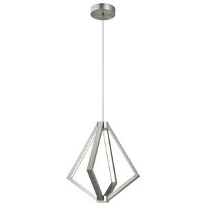 Satin Nickel LED Six-Light Pendant