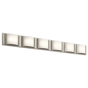 Bretto Brushed Nickel LED Six-Light Bath Sconce