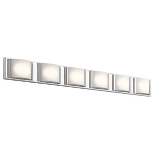 Bretto Chrome LED Six-Light Bath Sconce