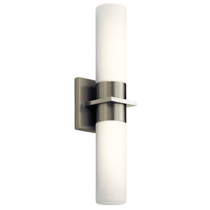 Hawn Brushed Nickel LED Bath Sconce