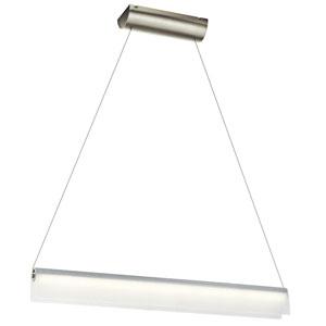 Rainfall Brushed Nickel LED Pendant