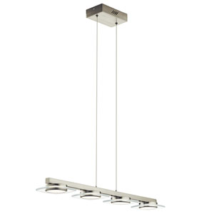 Azenda Brushed Nickel LED Pendant