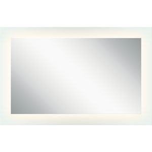 Frosted 27-Inch LED Lighted Rectangular Mirror