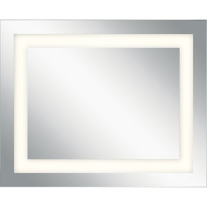 Frosted 40-Inch LED Lighted Rectangular Mirror