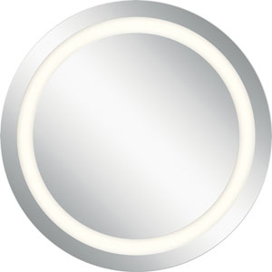Frosted 34-Inch LED Lighted Round Mirror