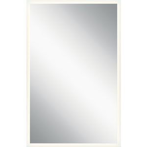 Frosted 39-Inch LED Lighted Rectangular Mirror