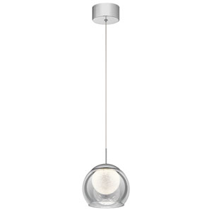 Lexi Chrome 8-Inch LED Mini Pendant