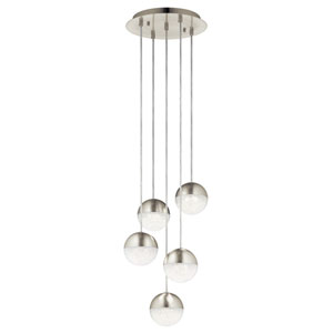Moonlit Brushed Nickel 13-Inch LED Round Pendant