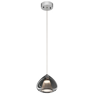 Zin Chrome 8-Inch LED Mini Pendant