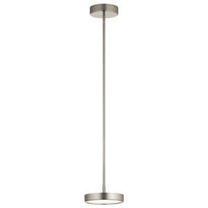 Stylus Brushed Nickel 8-Inch LED Mini Pendant